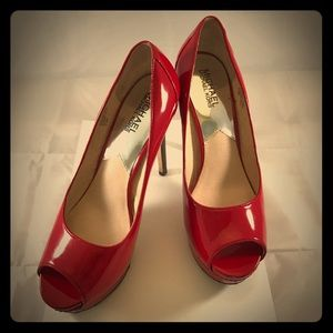 michael kors heels red women size 7.5